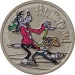 """Монета 25 рублей """"Ну, погоди!"""", с цветным изображением сцены из мультфильма (2018)"""
