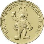 Монета 10 рублей ХХIХ Всемирная зимняя универсиада 2019 года в г. Красноярске, с изображением талисмана (2018)